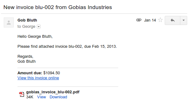 how to send an invoice from dubsado